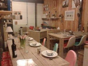 Meubelen van steigerhout showroom 2