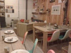 Meubelen van steigerhout showroom 11