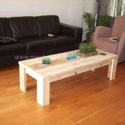 Steigerhoten salontafel eenvoudig model voor binnen en buiten