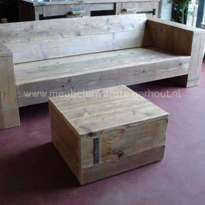 Steigerhouten hocker, stoer en in vele maten te maken, steigerhout uit het Gooi