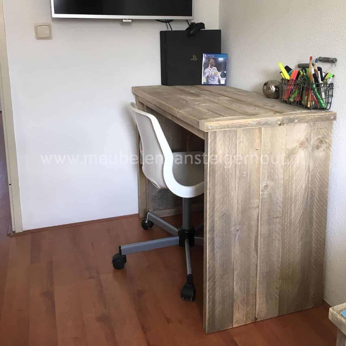 Steigerhout kinderbureau met GRATIS bureaustoel   Meubelen