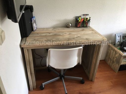 Steigerhouten bureau, steigerhouten kinderbureau, kinderbureau steigerhout