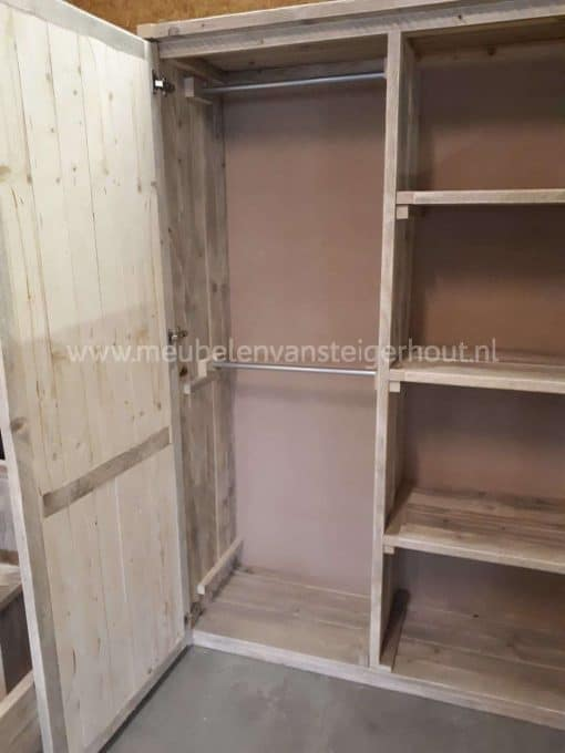 Steigerhouten kledingkast meubelen van steigerhout 2