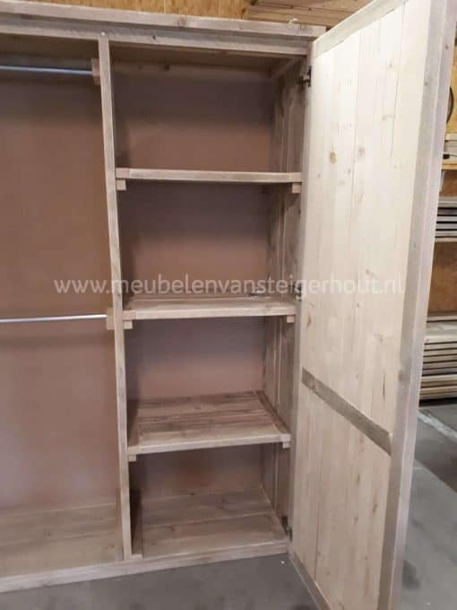 Steigerhouten kledingkast meubelen van steigerhout 1