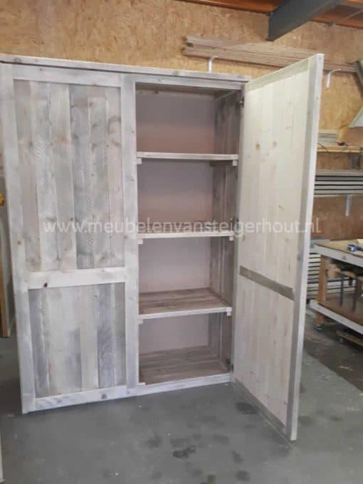 Steigerhouten kledingkast meubelen van steigerhout 3