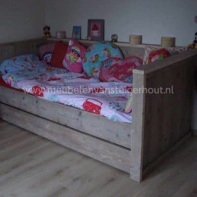 Steigerhouten bedbank type Maud, bedbank steigerhout