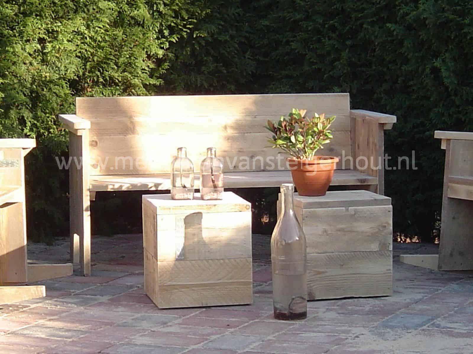 Tuinbank hout maken houten hoekbank voor in de tuin 208x76x76 cm lxbxh tuin meubels maken - Massief idee van tuin ...