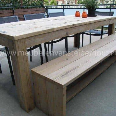 Tuintafel van steigerhout standaard basismodel Meest sterke model voor gebruik buiten
