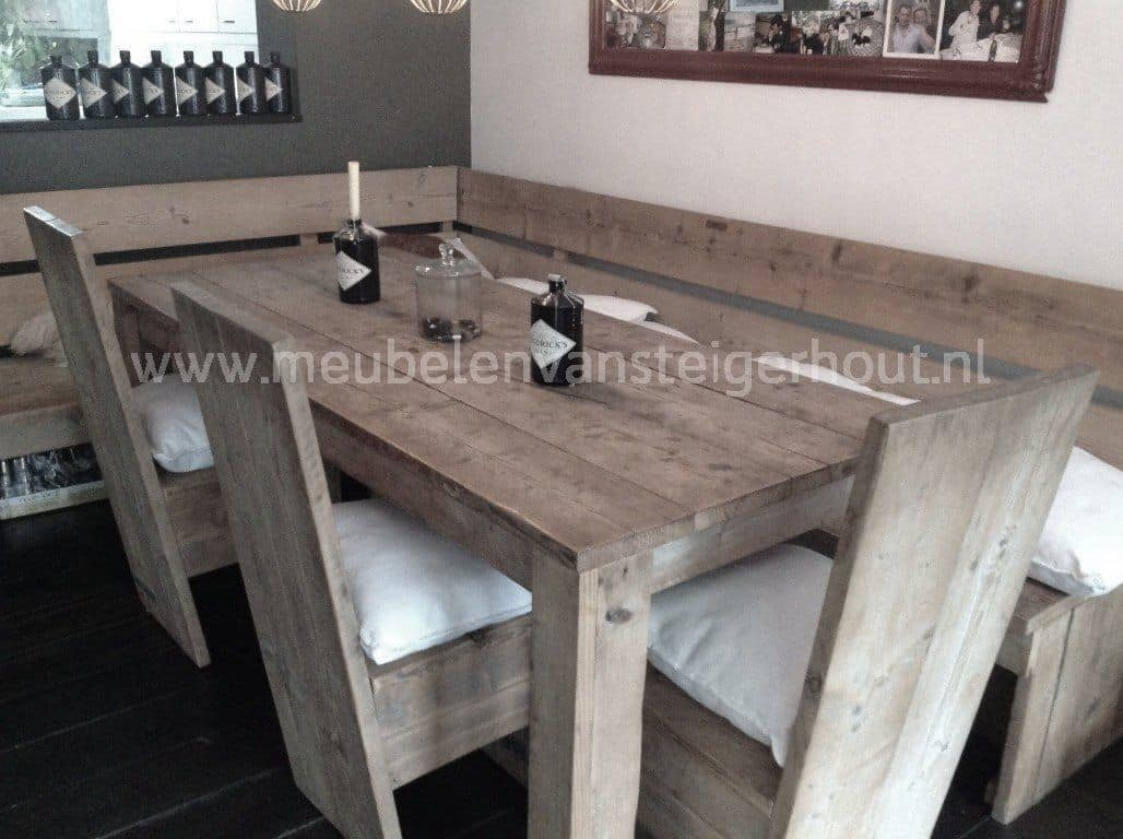 Hoekbank kopenhagen meubelen van steigerhout for Steigerhouten eettafel maken