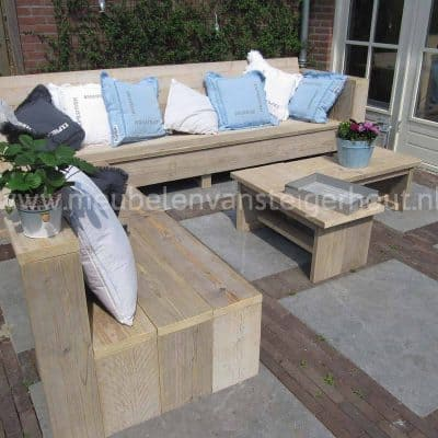 Hoekbank lounge van steigerhout