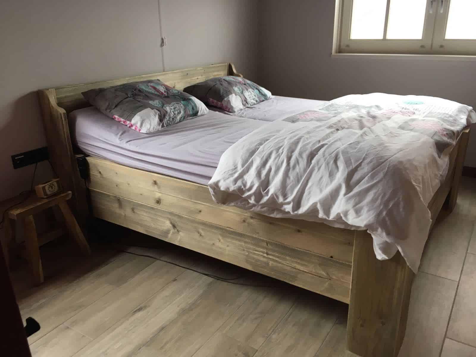 Bed blok meubelen van steigerhout