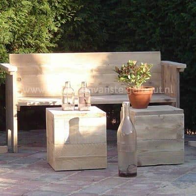 Degelijke en stoere tuinbank van steigerhout Bsmart