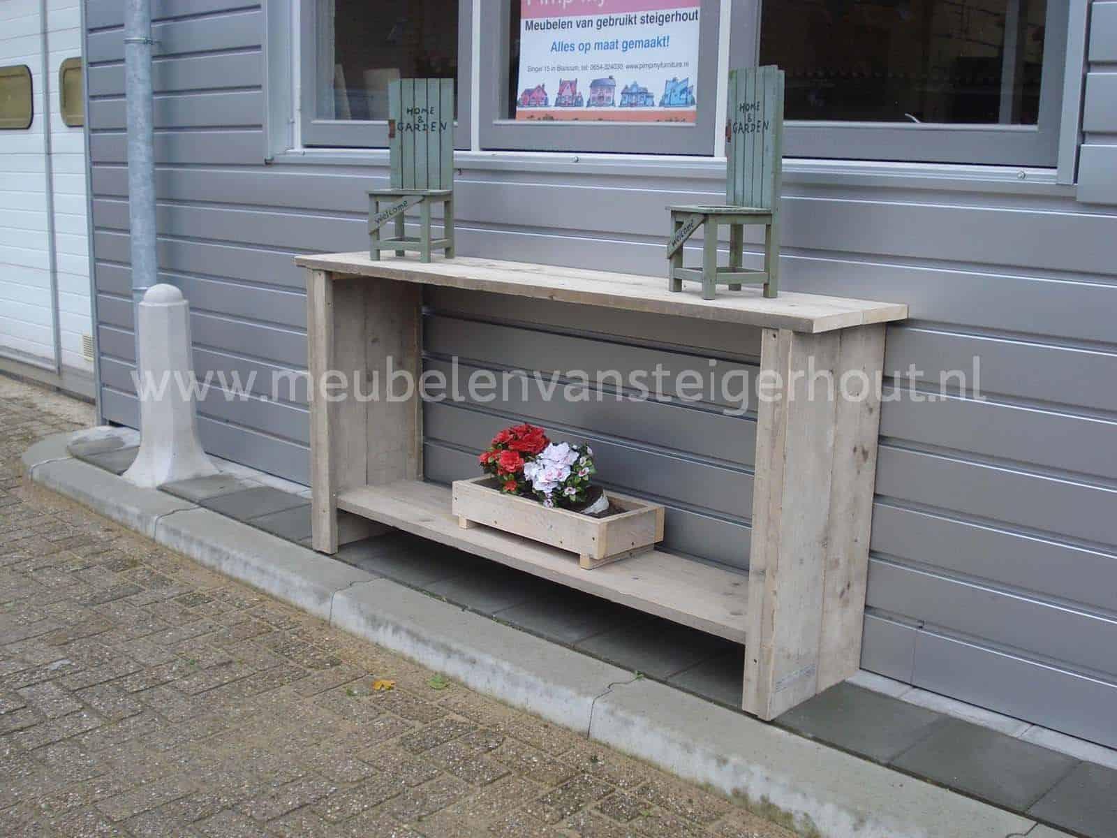 Steigerhout Sidetable Tuin.Sidetable B Smart Meubelen Van Steigerhout