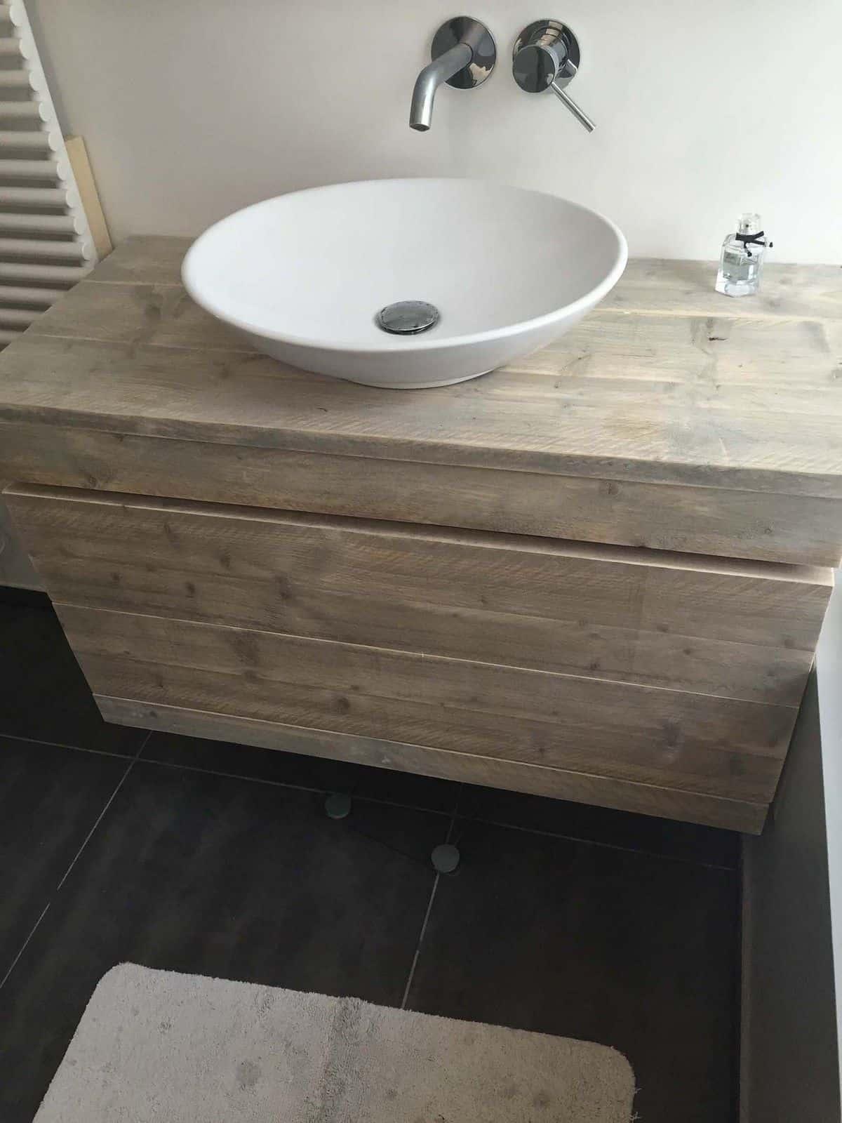 badmeubel steigerhout 3 meubelen van steigerhout