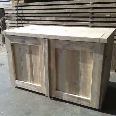 Steigerhouten TV meubel met 2 deuren