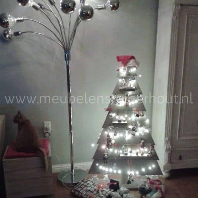 Steigerhouten kerstboom groot