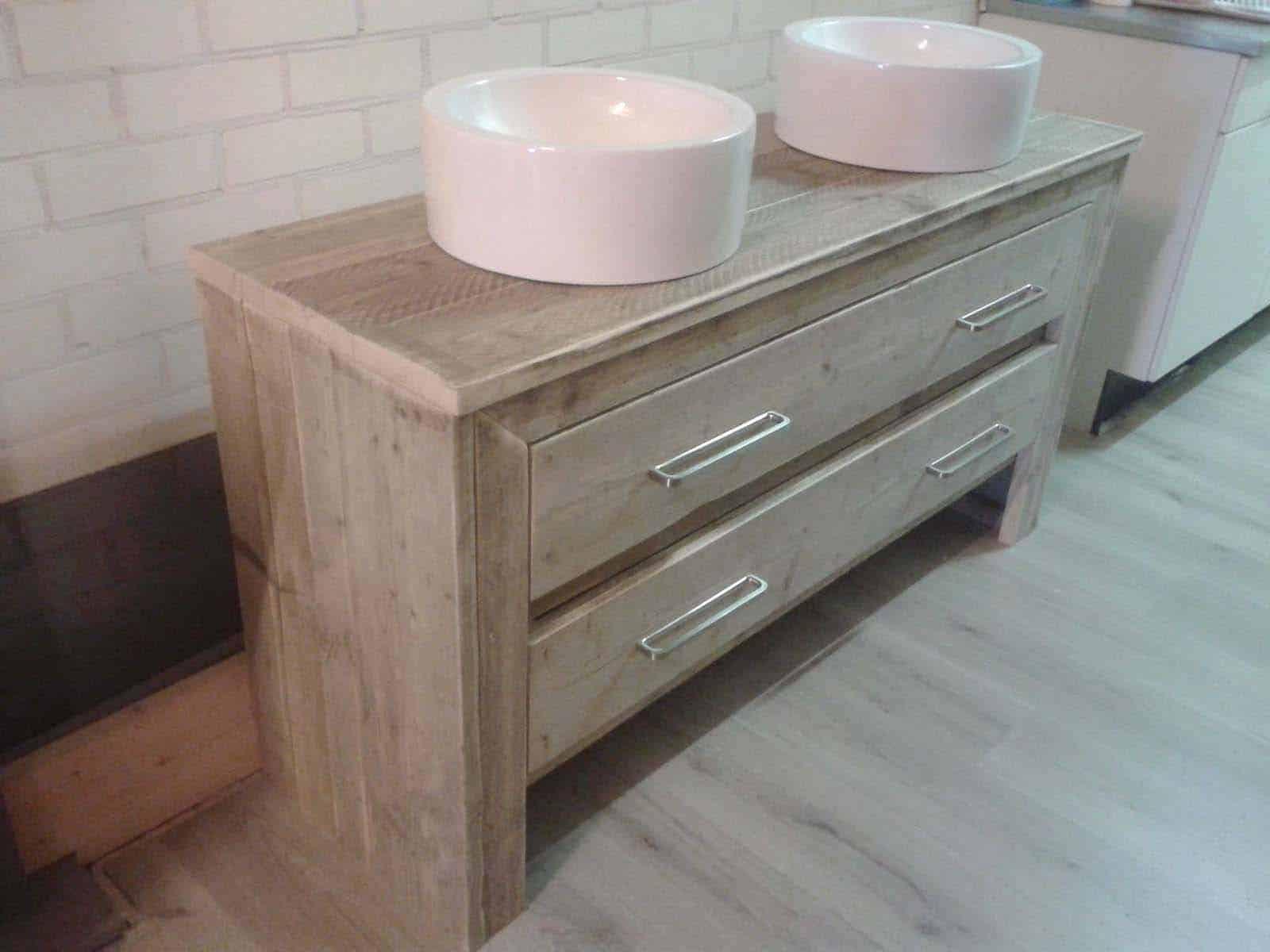 Badkamermeubel steigerhout type 2 meubelen van steigerhout - Weergaven kind kast ...