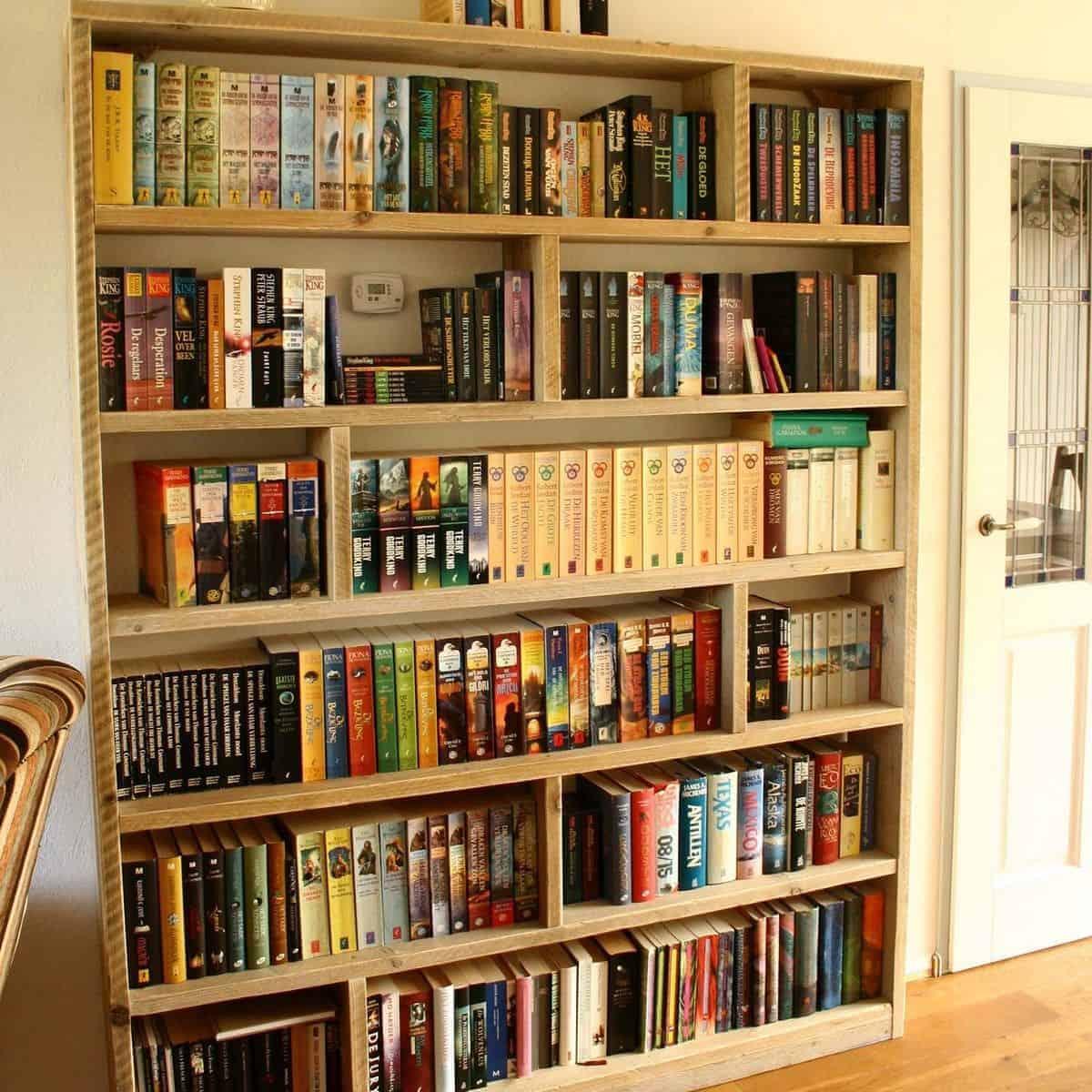 Boekenkast kast 1 meubelen van steigerhout for Boekenkast steigerhout