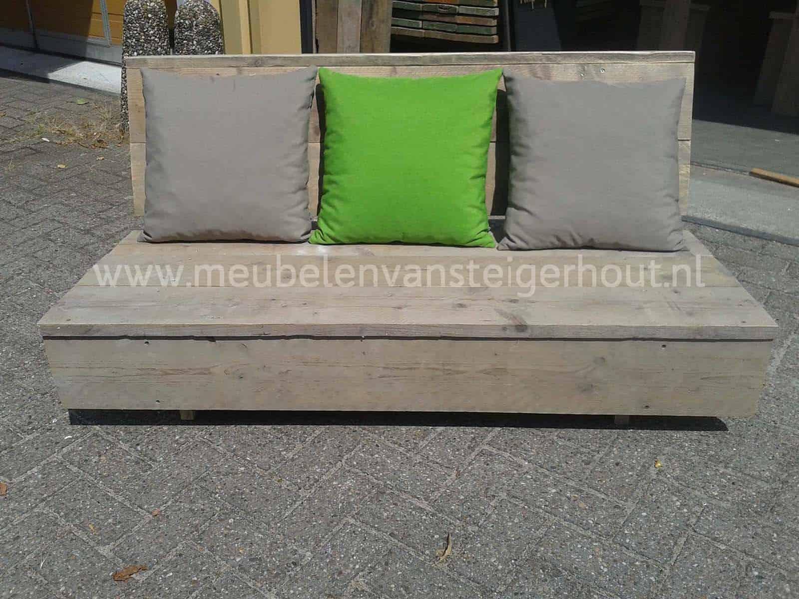 loungebank b smart 2 meubelen van steigerhout. Black Bedroom Furniture Sets. Home Design Ideas
