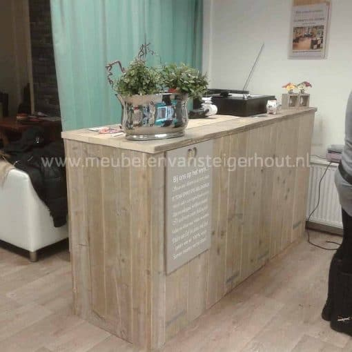 Toonbank steigerhout maatwerk steigerhout