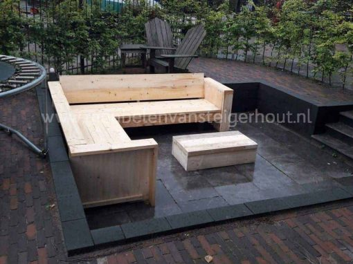 Steigerhout hoekbank lounge model Bsmart 2