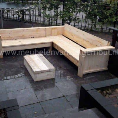 Hoekbank van steigerhout goedkoop steigerhout het gooi Jeannette van Heeckeren