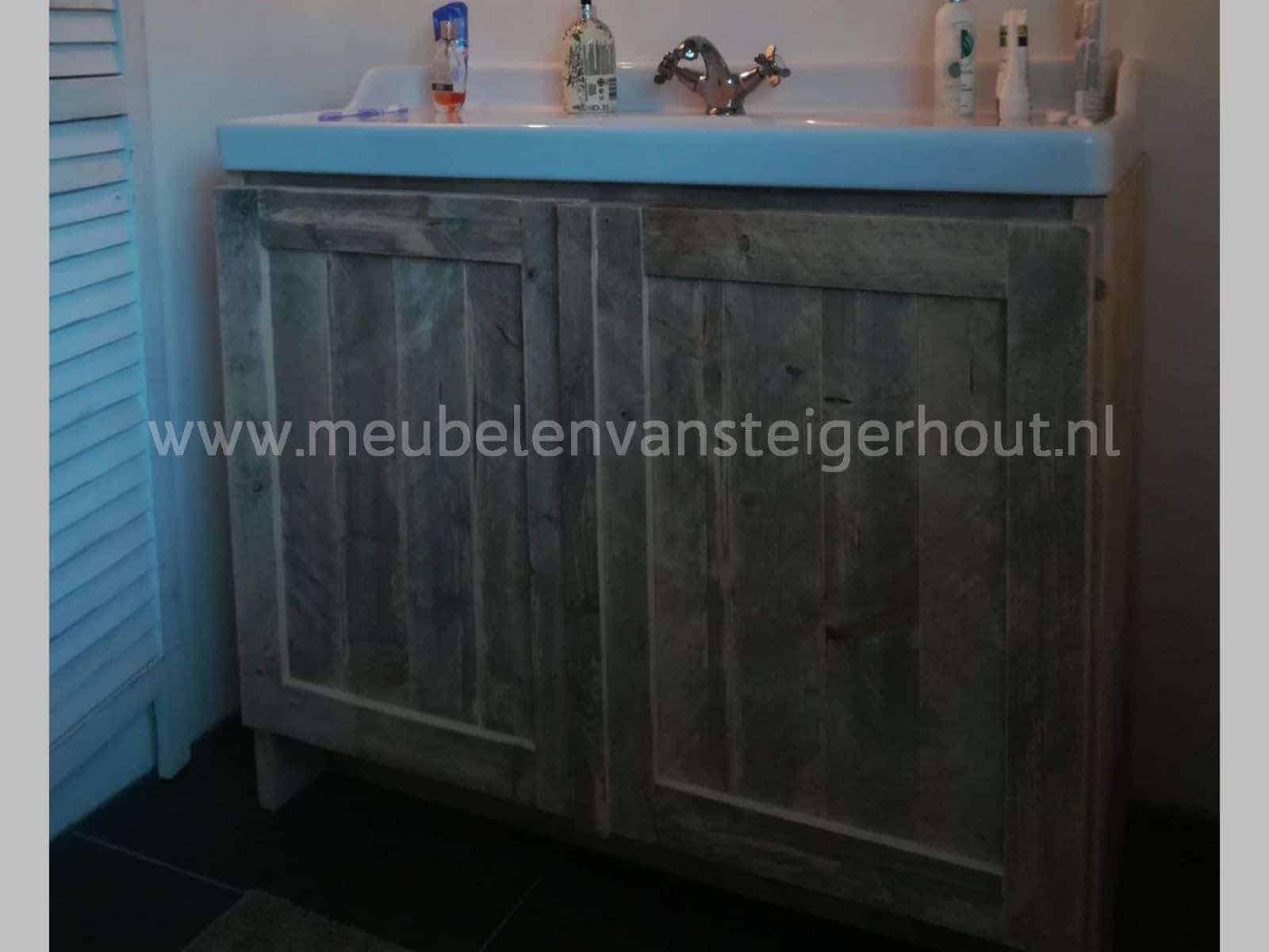 Badmeubel steigerhout 7 meubelen van steigerhout