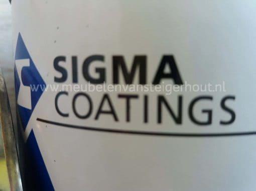 Steigerhout beits van Sigma speciaal gemengd voor naturel kleur