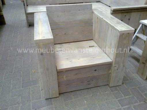 Klepstoel steigerhout,  maatwerk steigerhout van meubelen van steigerhout 1