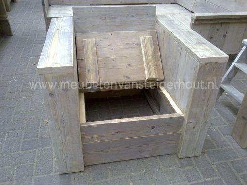 Klepstoel van steigerhout, maatwerk steigerhout van meubelen van steigerhout 2