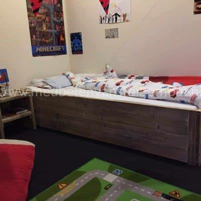 Het ultieme jongensbed van steigerhout, ook voor meisjes een mooi kinderbed van steigerhout