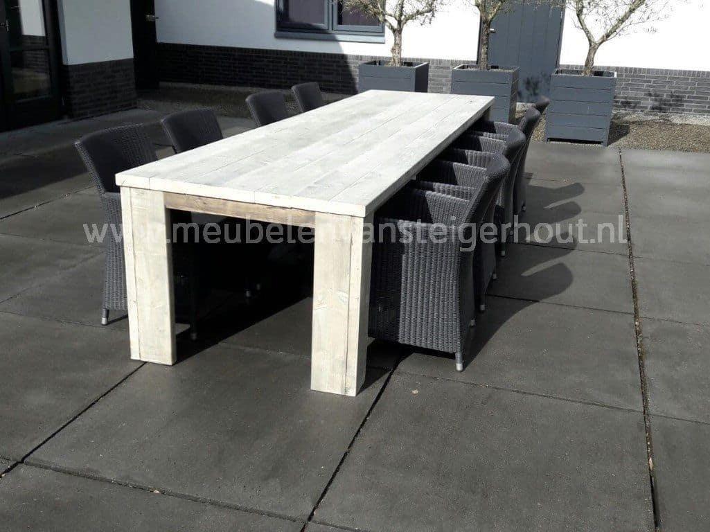 Tuinset steigerhout 4 meubelen van steigerhout for Steigerhout tuinset