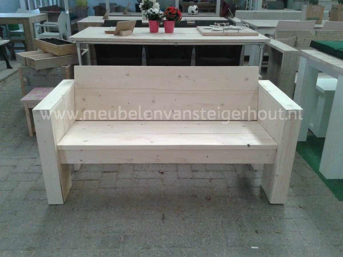 Sale steigerhouten tuinbank 150 cm meubelen van steigerhout for Tuinbank steigerhout aanbieding