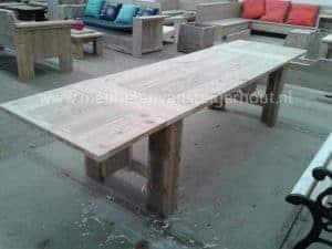 Tafel steigerhout met mogelijkheid tot verlenging