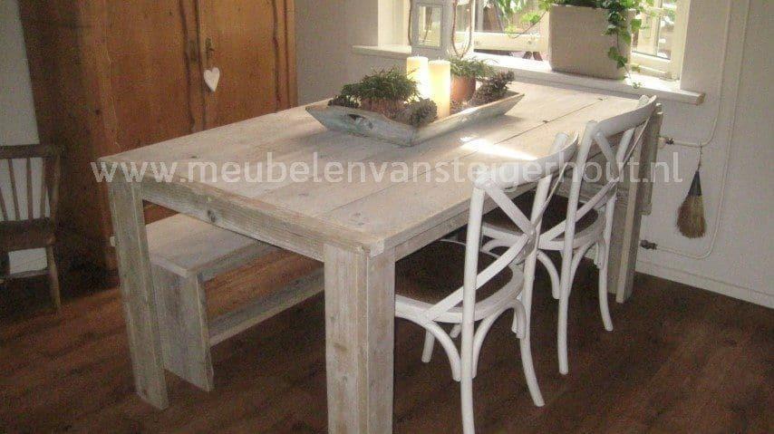 Tafel Steigerhout Tekening : Eettafel met bladverlenging meubelen van steigerhout