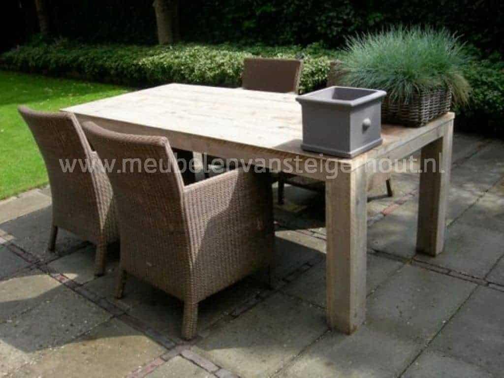 Tuinset steigerhout 15 meubelen van steigerhout for Steigerhout tuinset