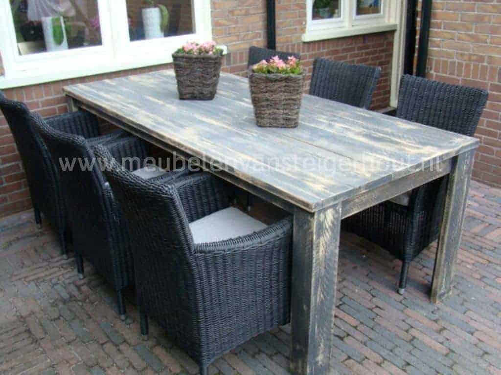 Tuinset steigerhout 18 meubelen van steigerhout for Steigerhout tuinset