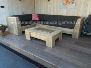 Lounge & dining van steigerhout