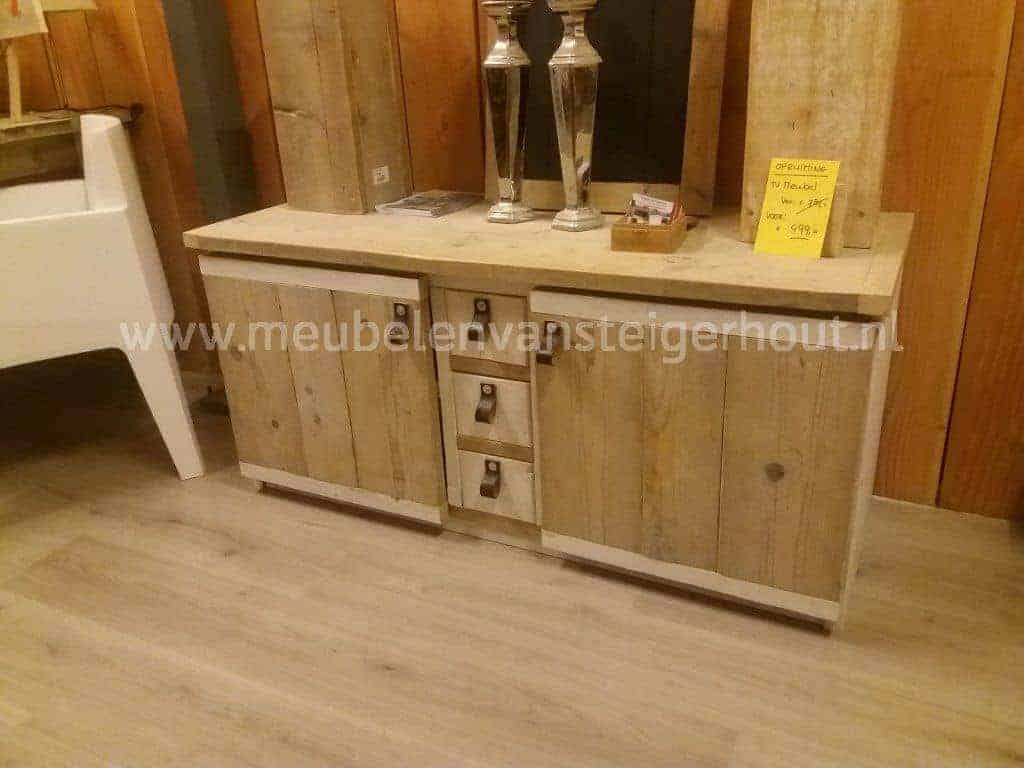 Tv meubel steigerhout riempjes1 meubelen van steigerhout for Meubel sale