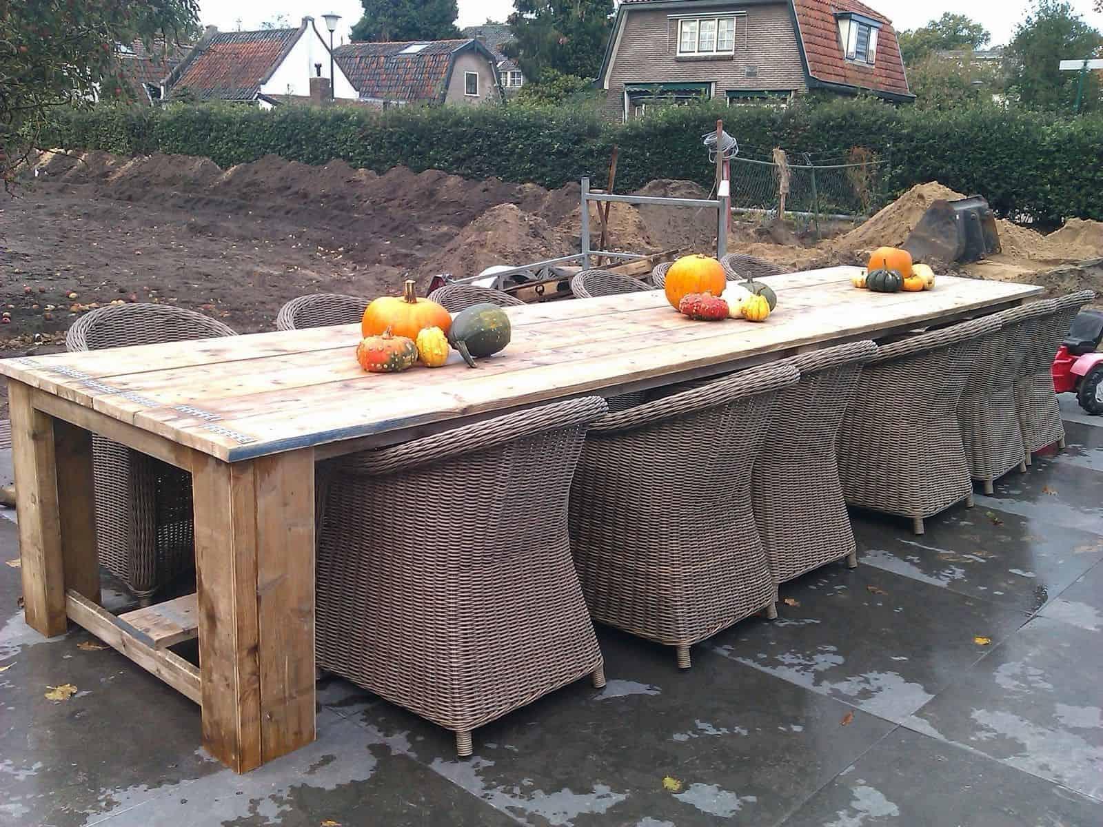Tuinset steigerhout 20 meubelen van steigerhout for Steigerhout tuinset