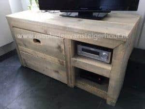 TV meubel steigerhout met kist en vakken