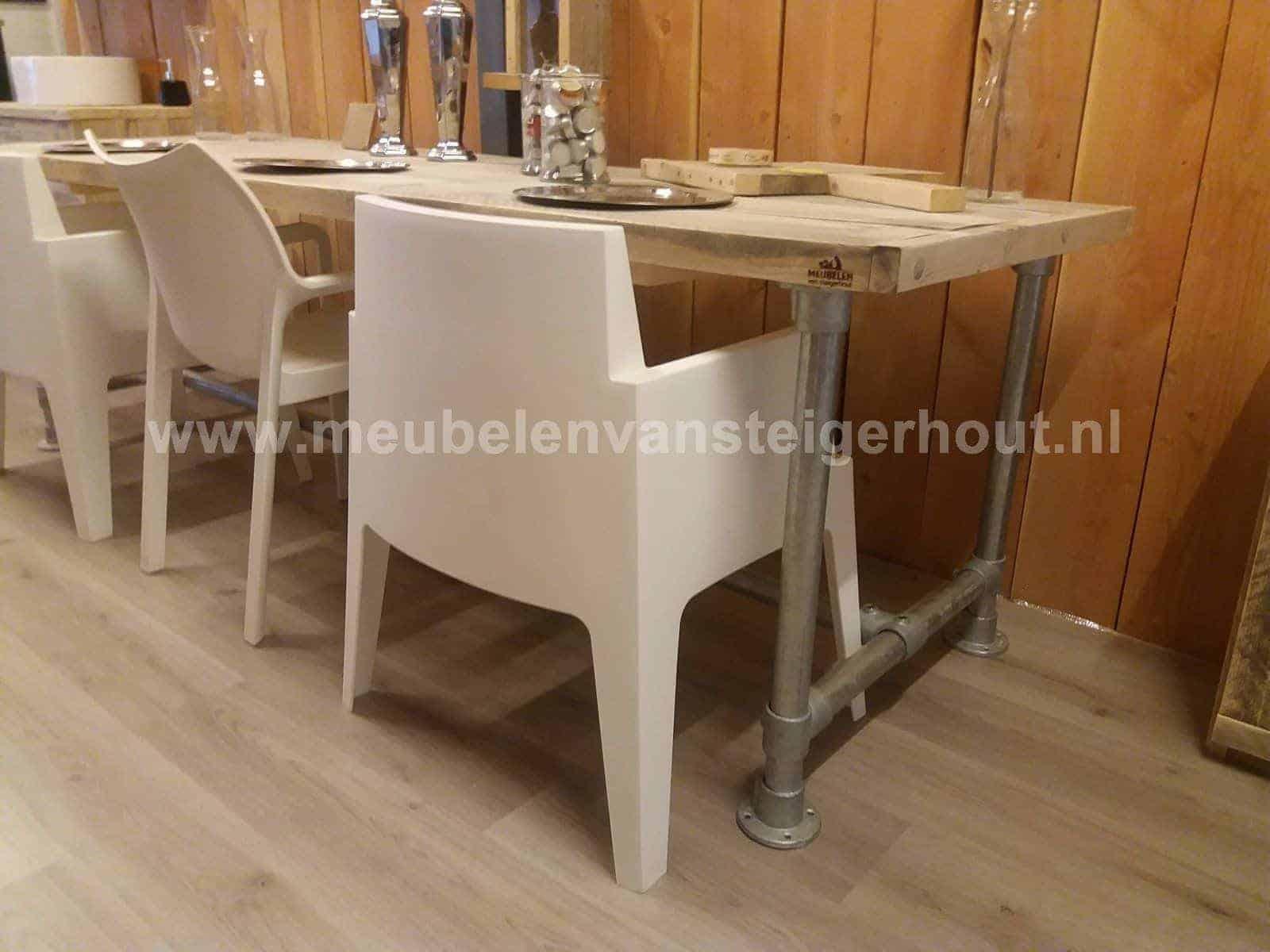 Steigerbuis Tafel Onderstel : Sale tafel met steigerbuis onderstel cm meubelen van