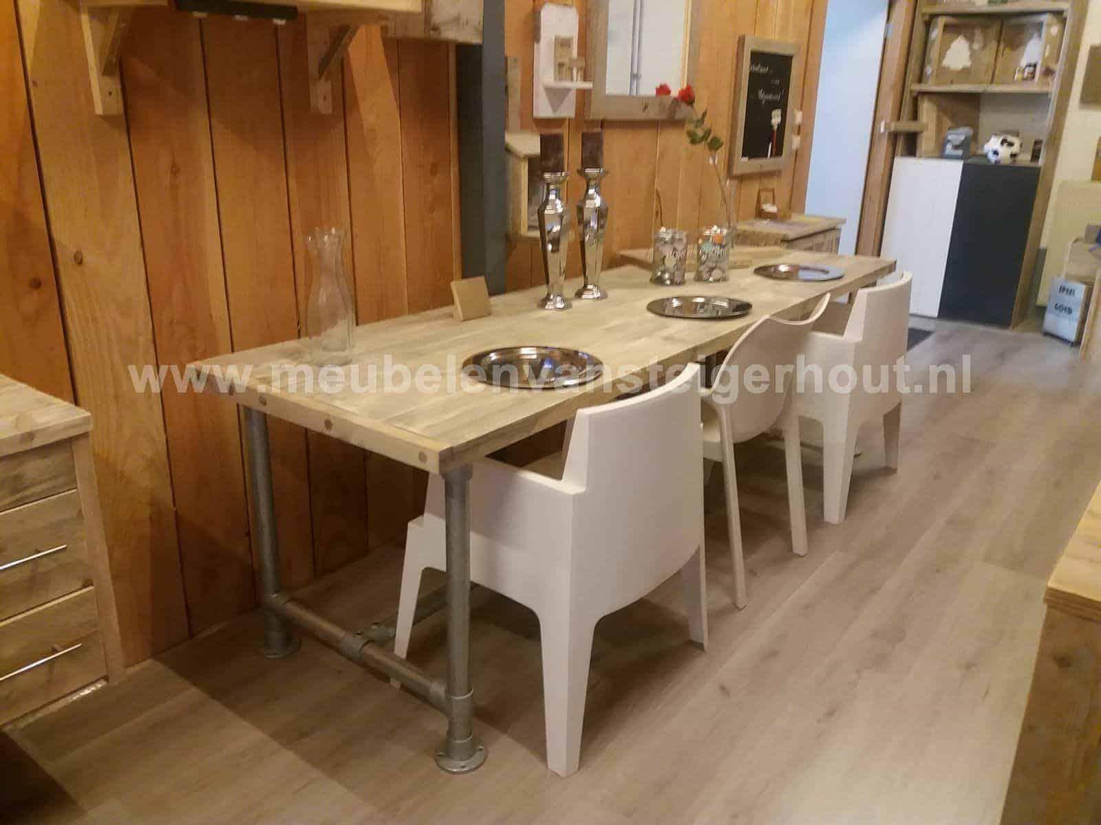 Eettafel wit hout ecosia