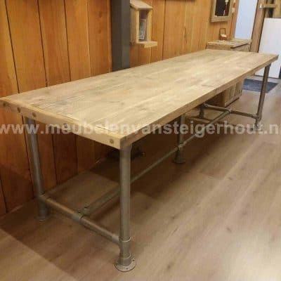 tafel steigerbuis steigerhout 5 cm dik