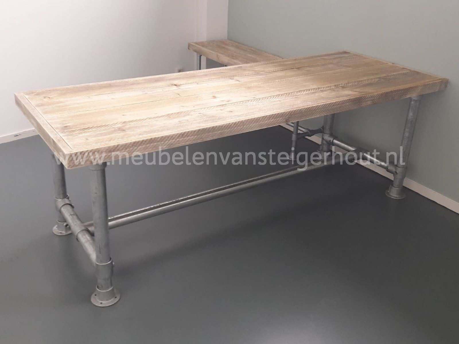 Steigerbuis Tafel Onderstel : Vergadertafel steigerbuis onderstel mm meubelen van steigerhout