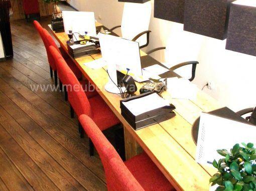 Steigerhouten vergadertafel op kolommen 2