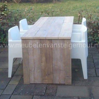 Steigerhouten tafel U model
