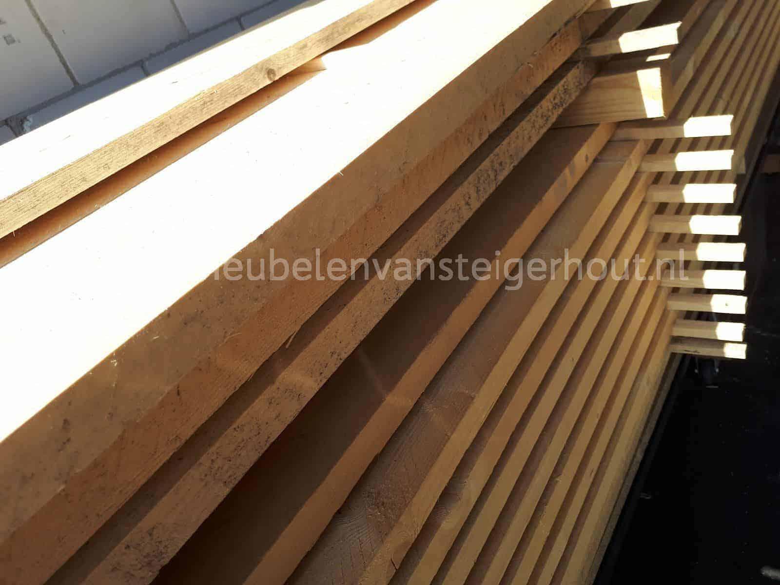 Tuintafel steigerhout blokpoot zand doe het zelf bouwpakket