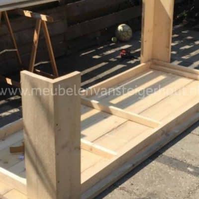 Badkamermeubels meubelen van steigerhout for Zelf meubels maken van hout