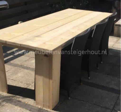Tafel maken steigerhout met bouwpakket tafel